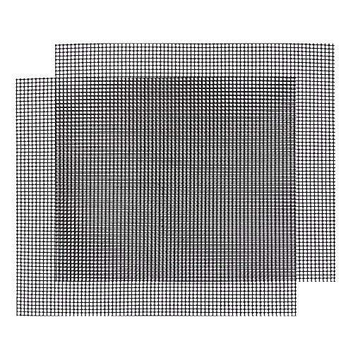 Htianc Gitter Grillmatte, Backmatte eckig, Dauer-Backmatten, Antihaftbeschichtung, LFGB und FDA Zulassung, 2 Stück, 42 * 36 cm