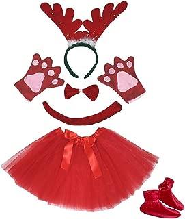 Petitebella 3D Headband Bowtie Tail Gloves Skirt Shoes 6pc Girl Costume