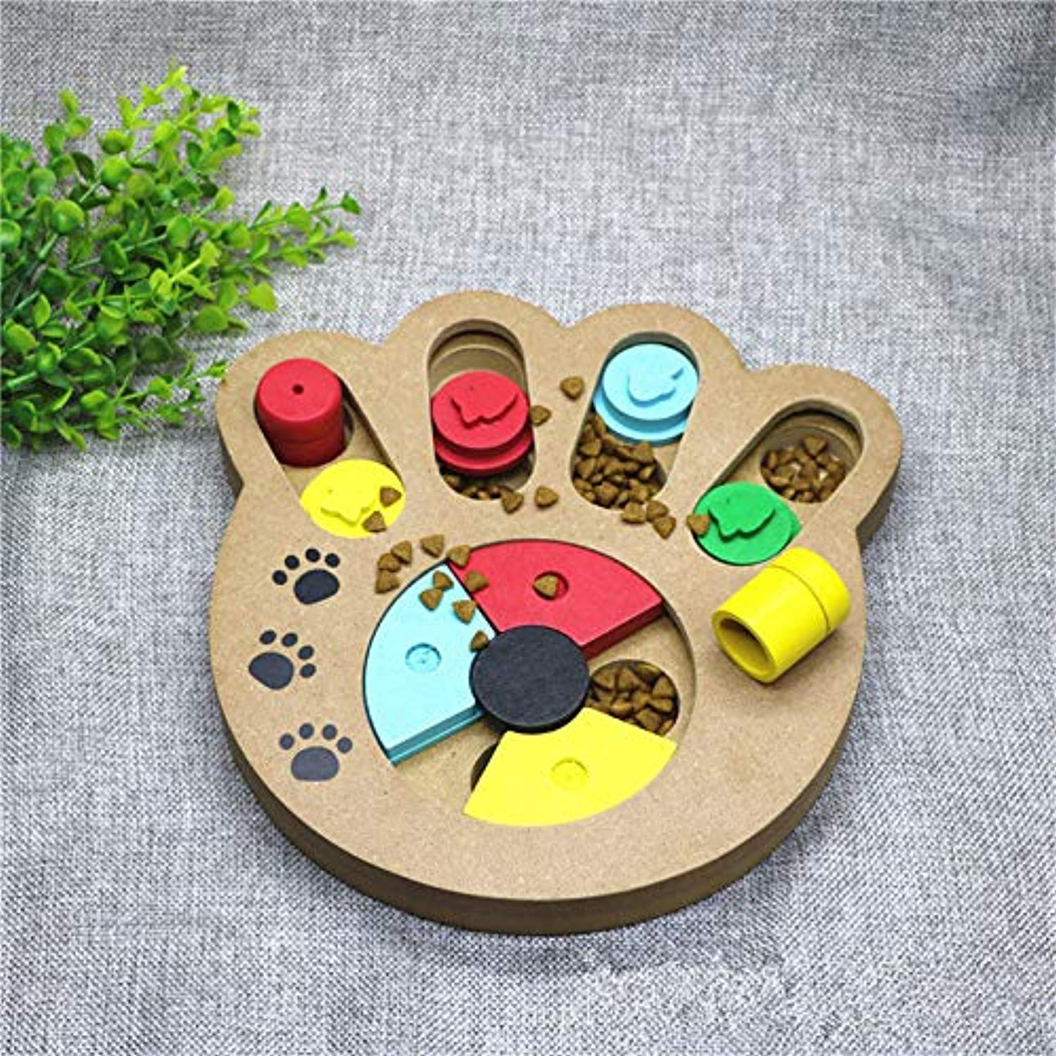 Fashion Pet Feeders Wooden Slow Eating and Anti Choking Feeding Device Bowl for Small and Medium Dog Pet Supplies,Bonetype
