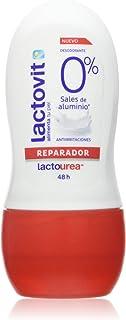 Lactovit - Desodorante Extra Eficaz 0% en Roll On LactoUrea, sin Sales de Aluminio, 0% Alcohol, Anti-Irritaciones y 48H de...
