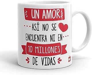 Kembilove Taza Desayuno para Parejas – Tazas Originales con Mensaje Un amor así, no se encuentra ni en millones de vida – ...