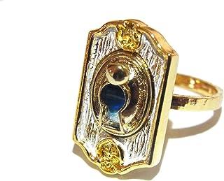 リング レディース 人気 大人 カザ KAZA 『 不思議な世界への入口 10号 (ホワイト)』 指輪 アクセサリー かわいい ring ジュエリー ドアノブ 扉 メルヘン おもしろ ユニーク
