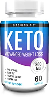 Keto Advanced Weight Loss - Keto - Diet Pills - Capsules Fat Burner - Supplements Dietary - Pure Diet - Full Diet - Keto Ultra Diet - Fat Burner - Carb Blocker - Keto Pills - Weigh Loss Supplement