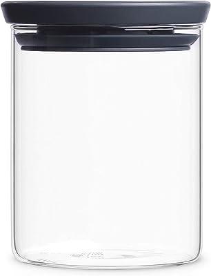 ブラバンシア スタッカブル ガラス ジャー 0.7L ブラック 29828-8