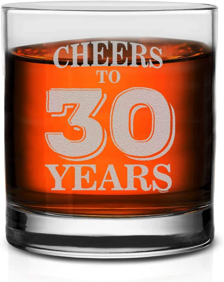 We OFFer at cheap prices Veracco Sales of SALE items from new works Cheers To 30 Years Whiskey Someo Birthday Gift Glass For