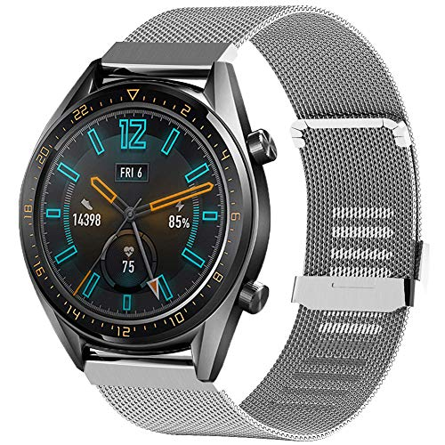 Tosenpo Correa para Huawei Watch GT, pulsera de metal de repuesto para Huawei Watch GT Active/Watch GT Sport/Watch GT Classic/Watch...