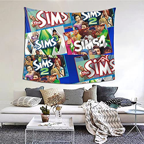 The Sims 4 - Paranormal Stuff Wall Tapestry,Black Tapestry Wall Hanging As Wall Art,Home,Decor for Bedroom,Living Room,Dorm Decor 60x51 Inches