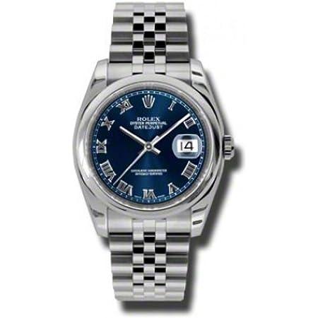 Rolex Datejust Blue Dial Stainless Steel Jubilee Bracelet Mens Watch 116200BLRJ