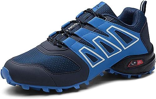 Chaussures de randonnée en Plein air antidérapantes Portent des Chaussures de Marche de Grande taille-bleu-43