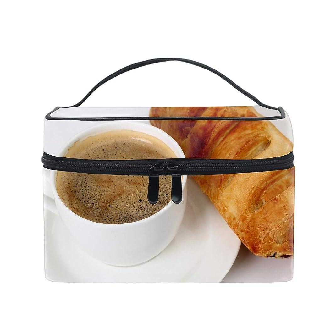 前投薬同意するカテゴリーメイクポーチ ボックス 小物入れ 仕切り 旅行 出張 持ち運び便利 コンパクトコーヒー朝食パンカップソーサー