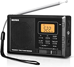 Portable Radio Pocket AM FM SW Radio Digital with Alarm Clock and Sleep Timer, Built in Loud Speaker, Small Battery Radio Stereo Personal Radio, for Camping, Travel, Emergency