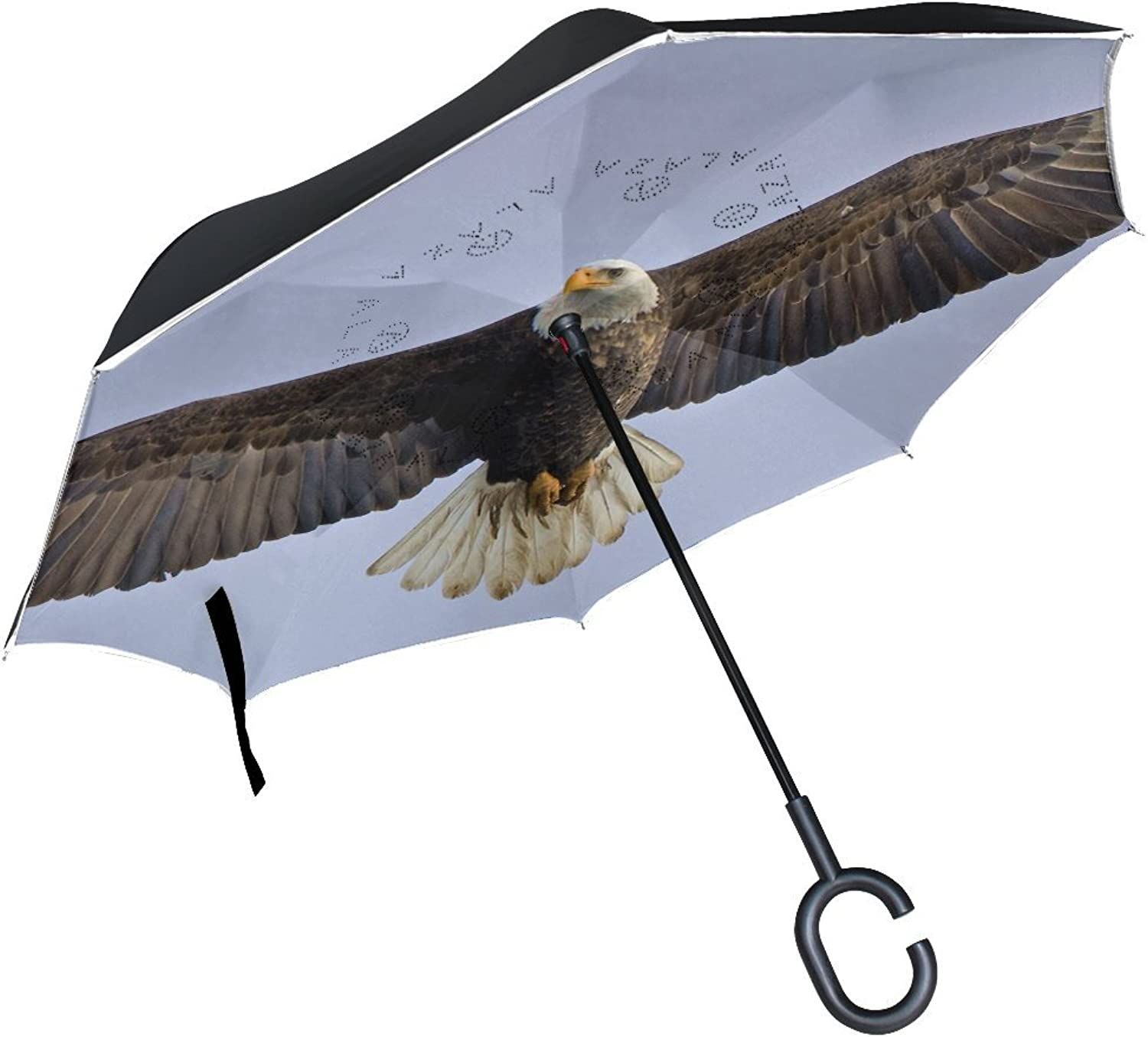 Animal Eagle Adorable Little Pet Cute Wild Flying Ingreened Umbrella Large Double Layer Outdoor Rain Sun Car Reversible Umbrella