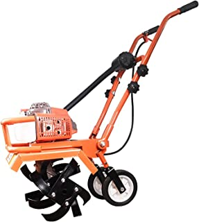 QILIN Garden Cultivator, 2 Cycle/4 Cycle Mini Cultivator, 3-in-1 Front Tine Tiller/Cultivator, Gear Drive, Tillage Width 4...
