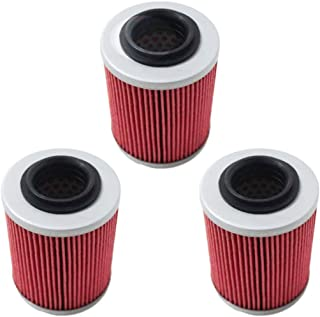 Poweka KN152 Oil Filter fit for CAN-AM COMMANDER BOMBARDIER OUTLANDER MAX 330 400 1000 DS650 DS650X BAJA Replace HF152 Powersports High Performance Filter
