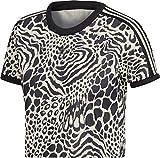 T-Shirt Crop Femme Adidas Leopard