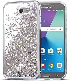 Galaxy J3 Emerge Case, SuperbBeast Fashion Bling Liquid Floating Glitter Sparkle Girly TPU Bumper Case for Girls Women Children Samsung Galaxy J3 Emerge/J3 Prime/J3 2017/Amp Prime 2/Express Prime 2