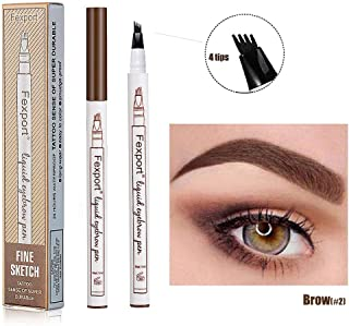 Lapiz de Cejas Waterproof, Tattoo Eyebrow Pen con Cuatro 4
