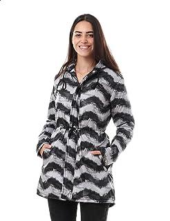 Andora Patterned Side Pocket Long Sleeves Bomber Jacket for Women