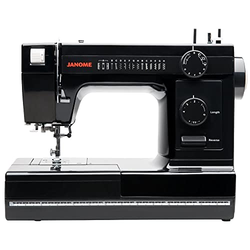 Janome Industrial-Grade Aluminum-Body HD1000 Black Edition Sewing Machine with 14 Stitches,
