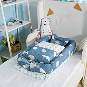 Baby Nest Toddler Lounger Portable Soft Breathable Baby Snuggle Nest Multifunctional Baby Nest Super Soft  Breathable Hypoallergenic Suitable From 0-36 Months H