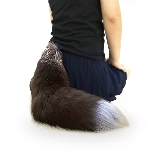 ee921d0afe7 Sheicon Soft Fluffy Silver Fox Big Dress Up Tail for Cosplay