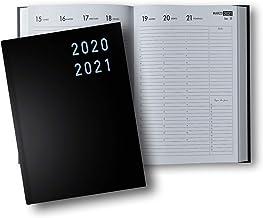 Agenda 2020 2021: 18 Mesi Agenda 2020/2021, luglio 2020 - dicembre 2021 nera, copertina rigida, settimanale verticale, italiano, Din A4