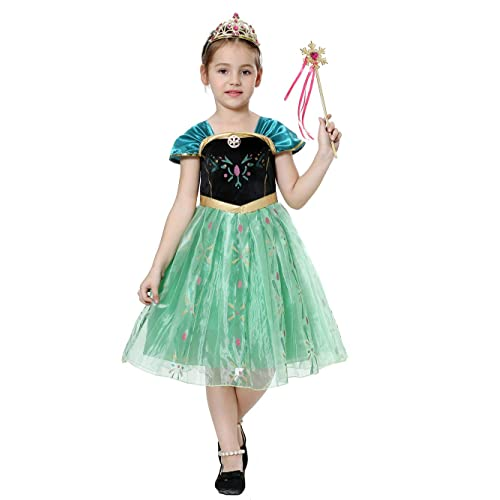 597117763 Girls Fancy Dress Princess Dressing up Costumes Snow Queen Party Outfit  TS104