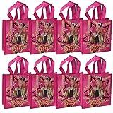 JoJo Siwa 6-Pack 14-inch Sling Bags Drawstring Cinch Sack Totes Pink