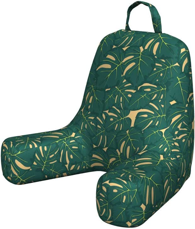 Ambesonne Special service price for a limited time Tropic Foam Reading Pillow Natural Abstract Greenery
