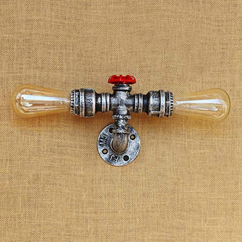 2 Heads Water Pipe Led Wandleuchte Metallrost Wandleuchte Led Leuchten, Silber