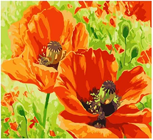 NDSLJSLYH Bricolage Peinture Numérique Fleurs épanouies F 100X180Cm étudiant Débutant pour Enfants Adultes Peindre Kits Home Decor Peinture Cadeau