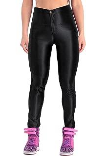 Women's High Waist Shiny Satin Neon Disco Pants