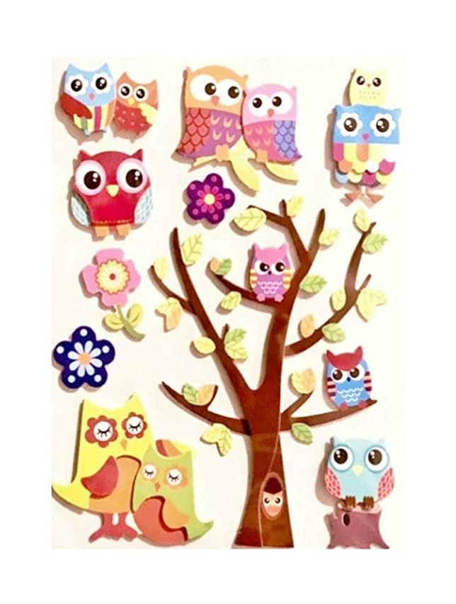 Adorable Pop-Up Owl Stickers/Appliques Giftwrap Trim, Scrapbooking, Crafts