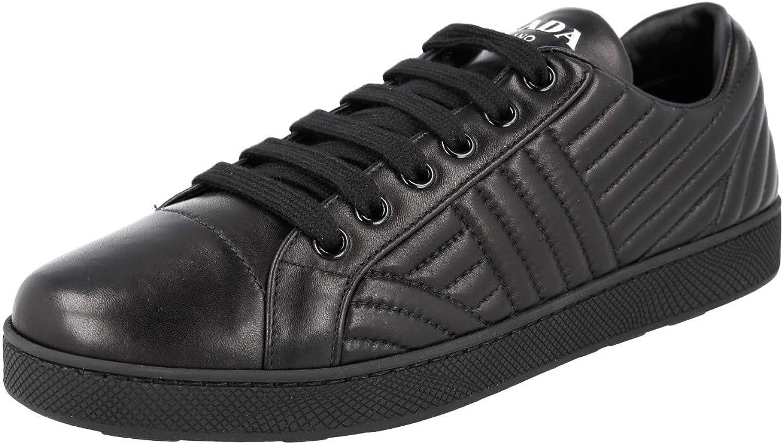 Prada Women's 1E254L 77F F0002 Leather Sneaker
