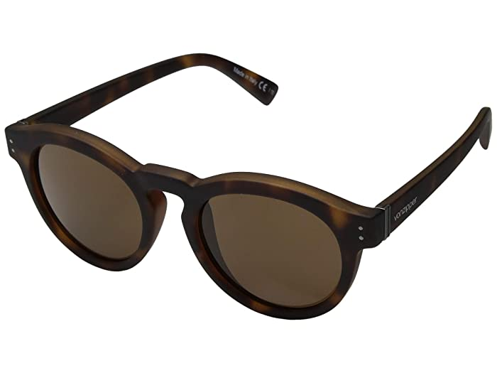 VonZipper Ditty (Tortoise Satin/Bronze) Athletic Performance Sport Sunglasses