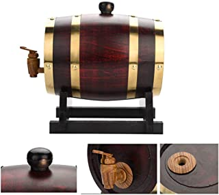 Tonneau de Vin en chêne Fût de chêne Tonneau de vin en chêne, 1.5L, 3L, 5L, 10L Durable Bois Vintage Tonneau de vin Distri...