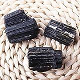 Cristalino de la serie Tratamiento Chakra 2019 Negro natural del cristal de turmalina de piedras preciosas coleccionables Rough Rock Mineral de muestras de piedra Decoración Reiki mineral gema Set
