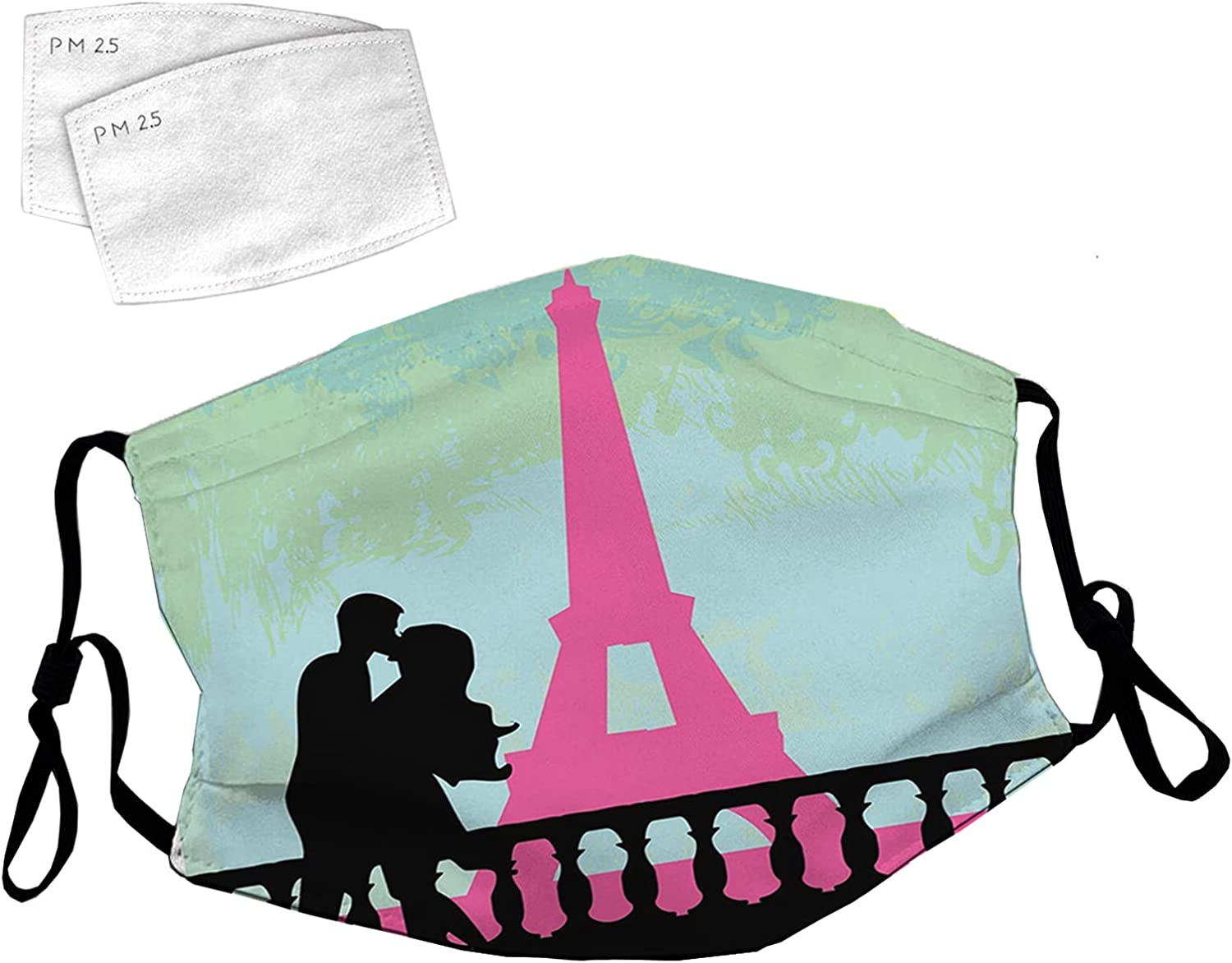 Reusable Face Mask with Adjustable Ear Kis in Paris Loops Popular shop is the lowest price challenge Couple Branded goods