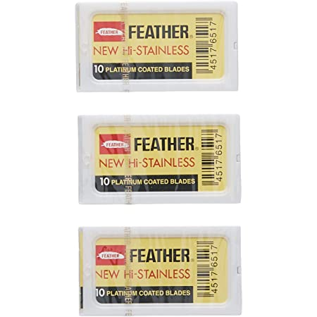 Feather Double Edge Safety Razor Blades 30 Count