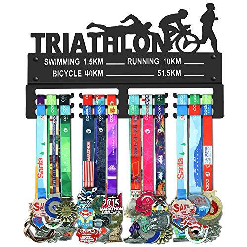 Webin Medaille-hanger voor triathlon (zwemmen hardlopen bikycle), outdoor sportmedaille display rek, trofee kleerhanger, onderscheidingen metalen houder