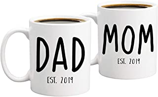New Parents Pregnancy Announcement Coffee Mug Set 11oz