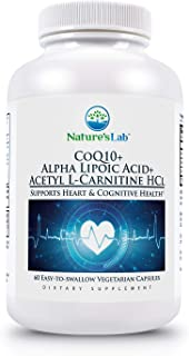 CoQ10 + Alpha Lipoic Acid + Acetyl L-Carnitine HCl - 60 Capsules (1 Month Supply) Supports Heart, Brain and Cell Health.