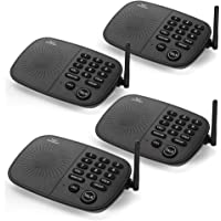 Hosmart 1/2 Mile Long Range 10-Channel Security Wireless Intercom System (4 Units) (Black)