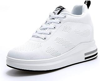 TQGOLD Womens Knit Platform Hidden Wedges Sneaker High...