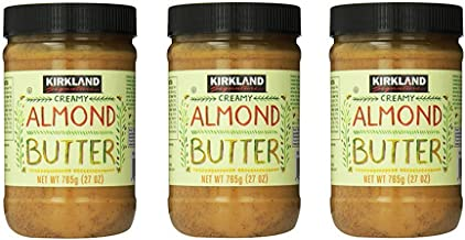 Kirkland Signature Creamy Almond Butter, 27 Ounce (Pack of 3)