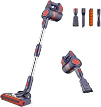 JASHEN D18 Cordless Stick Vacuum Cleaner, 3 Speeds Cordless Vacuum with LED Power Indicator, Stick Vacuum Cleaner for Hard...