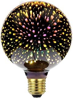 Lightingdesigner - Ampoule LED Edison E27 décorative - effet feux d'artifices 3D - CA 85 - 249 V , Silver, E27 4.00W 240.00V