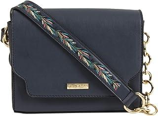 Chumbak Tropical Vines Crossbody Bag -Navy - Stylish Women's Purse, Over the Shoulder Bag for Girls, Fashion Handbag, Cros...