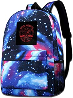 Galaxy Printed Shoulders Bag Devil Hunter Ebony And Ivory DMC Fashion Casual Star Sky Backpack For Boys&girls