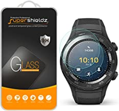 (2 Pack) Supershieldz for Huawei Watch 2 and Huawei Watch 2 Classic Tempered Glass Screen Protector, (Full Screen Coverage), Anti Scratch Bubble Free